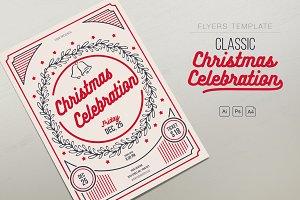 Classic Christmas Celebration Flyer