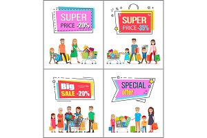 Super Price Off up to 30% Commercial Posters Set