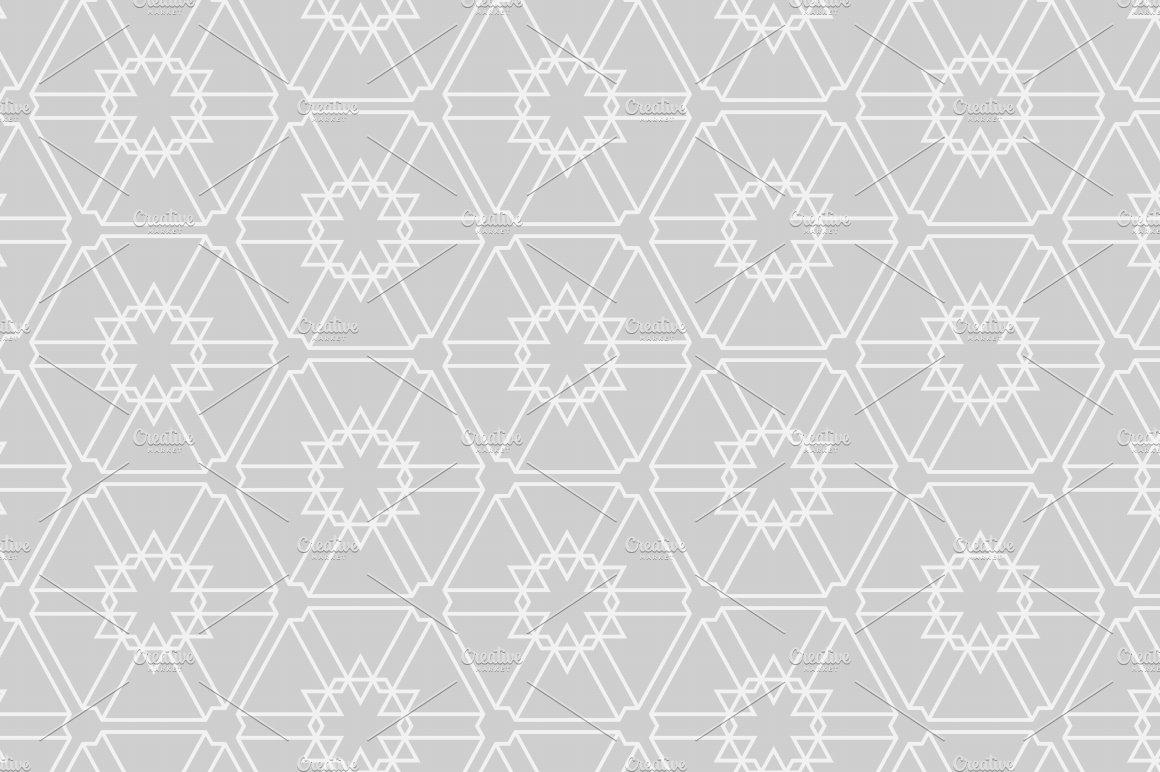 gray geometric pattern ~ Graphic Patterns ~ Creative Market