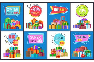 Special Offer -50%, Big Sale Vector Illustration