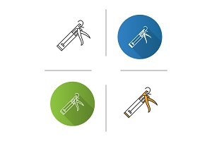 Caulking gun icon