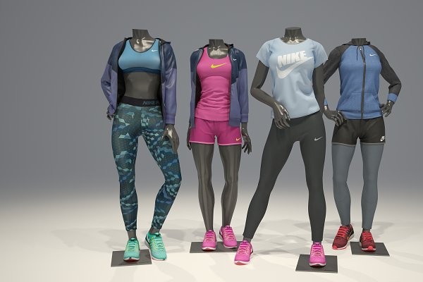 Person - Female mannequin Nike pack 2