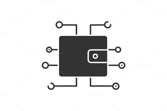 Digital Wallet Glyph Icon