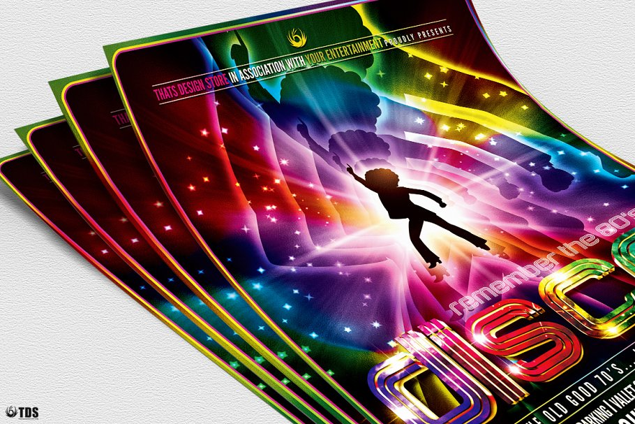 Remember Disco Flyer PSD - Flyer Templates | Creative Market Pro