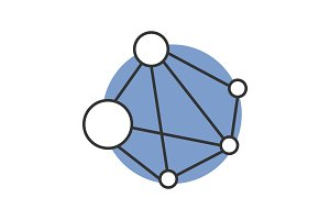 Global network color icon