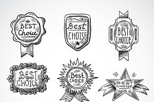 Best choice badge sketch set