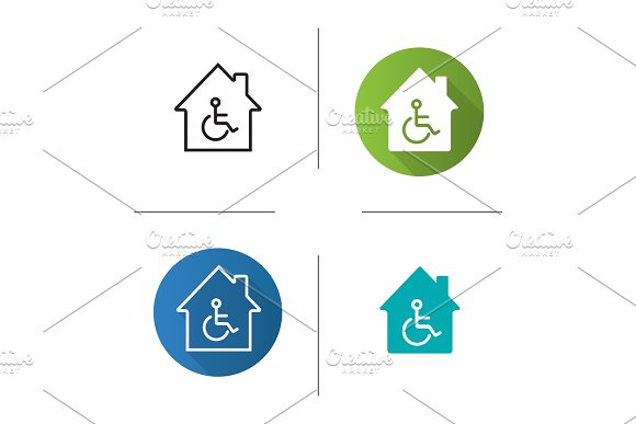 House with special facilities icon