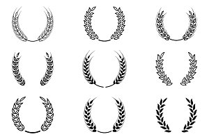 Black laurel wreaths