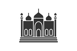 Mosque glyph icon