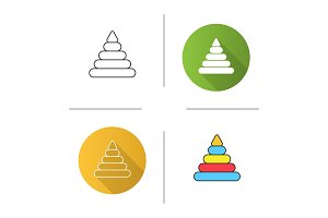 Pyramid toy icon