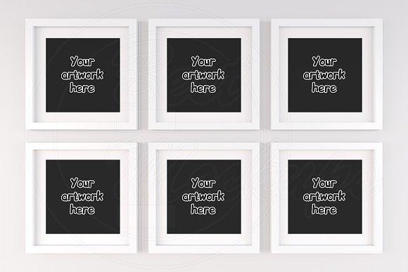 Six collage square frame mock ups