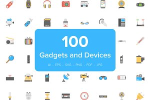Flat Icons of Gadgets and Devices
