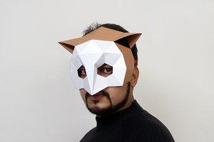 DIY Owl mask - 3d papercraft
