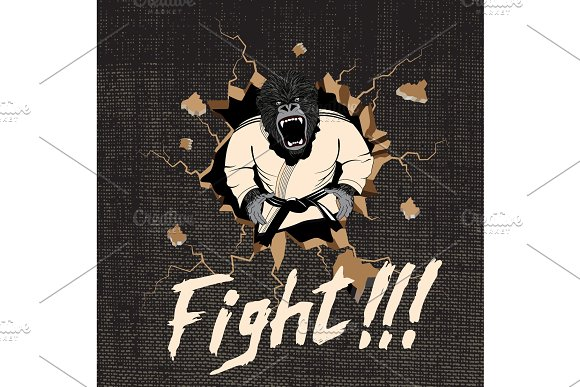 The Judoka-gorilla Hit A Wall