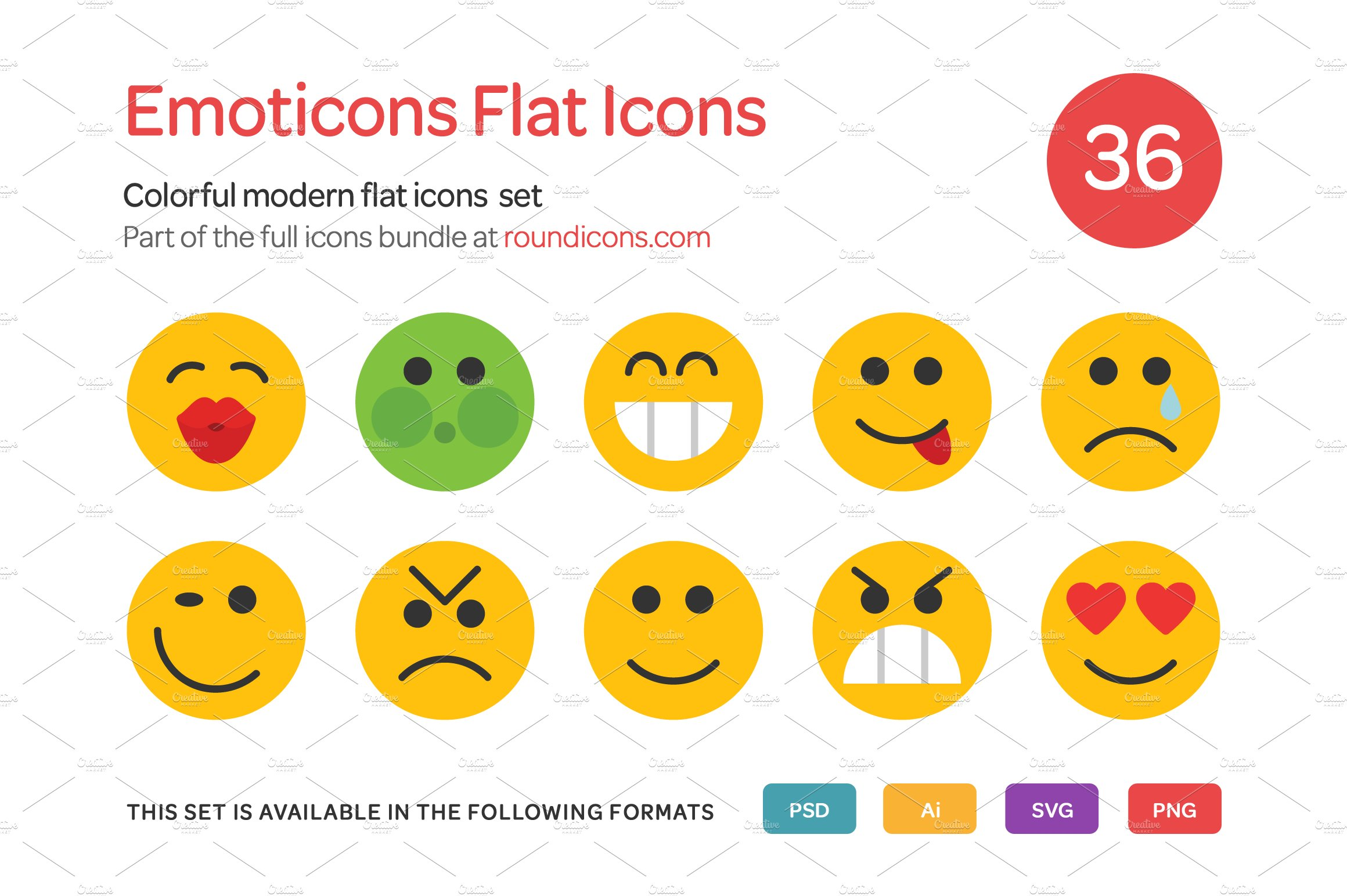 Meet the graphic designers behind the emojis we love creative emoticons flat icons set biocorpaavc Choice Image