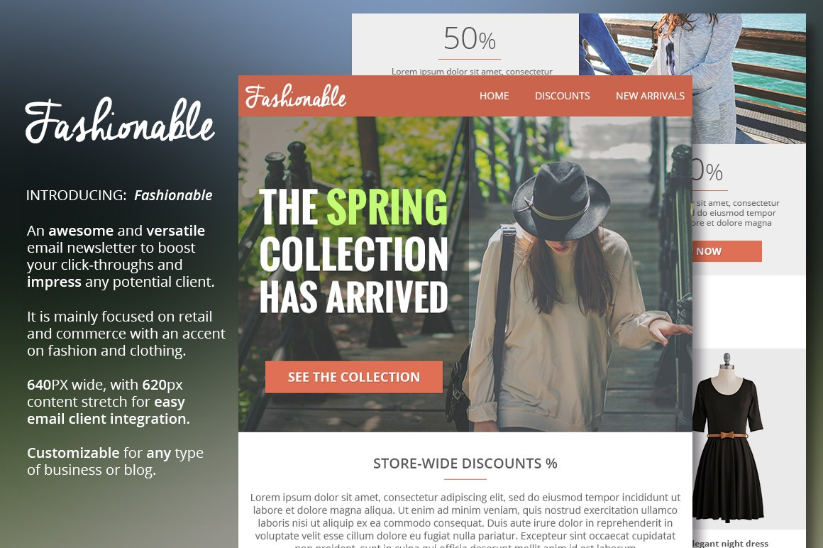 Fashion & Clothing Email Newsletter ~ Email Templates ~ Creative Market