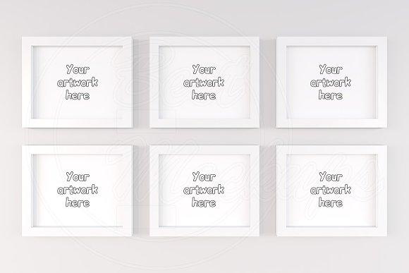 Six digital frames mockup template