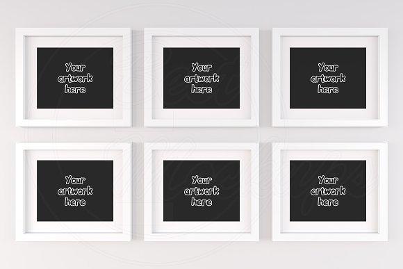 White matted frame 10x8 mockup scene