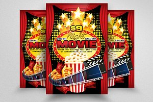 Movie Time Flyer Templates