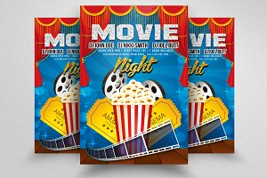 Movie Party Flyer Templates