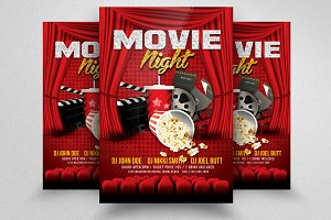 Movie Night Cinema Flyer