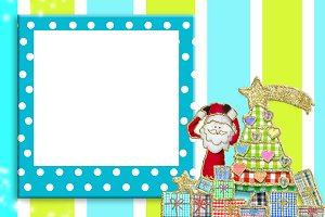 Christmas picture frame for children