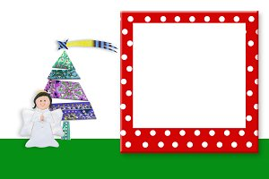 Picture  frame Christmas backgrounds
