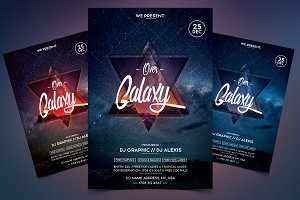 Over Galaxy - Event PSD Flyer