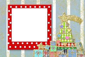 Christmas frame for children greetin