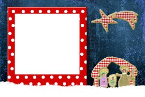 Christmas frame for children or baby