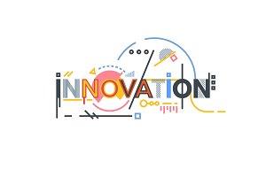 Innovation text banner
