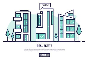 Modern city real estate
