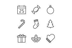 Christmas line icon