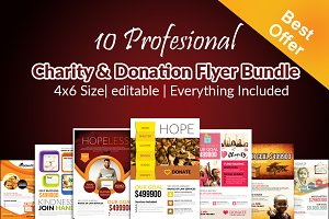 10 Charity Flyer Bundle Vol:01