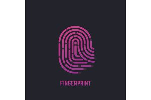 Fingerprint gradient logo