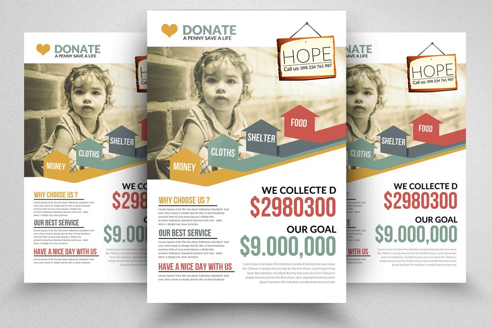 donation charity flyers flyer templates creative market