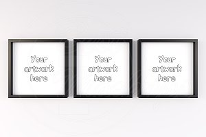 Set of 3 frame mockup smart object