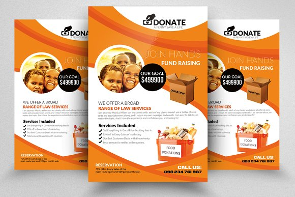 donation flyer flyer templates creative market