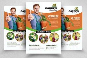 Garden service Flyer Templates