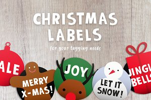 Christmas labels + typeface