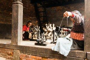 Women sew in Nepal