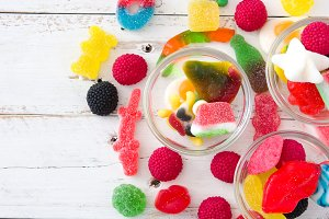 Colorful childs sweets and treats