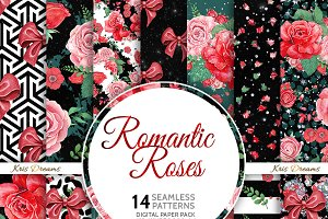 Romantic Roses Digital Paper