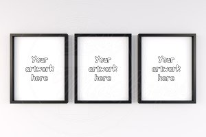 Triple set scandinavian mockup frame