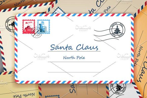santa claus christmas mailing illustrations creative market