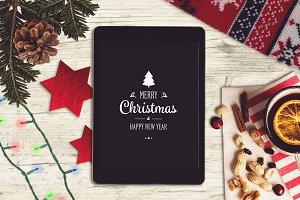 Christmas iPad Mock-up #9