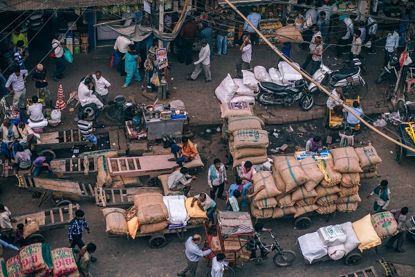 Abstract Stock Photos - Busy Market