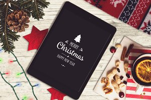 Christmas iPad Mock-up #7