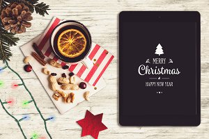 Christmas iPad Mock-up #6