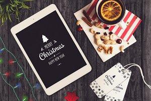 Christmas iPad Mock-up #5